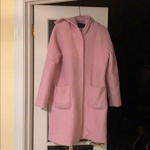 Pink wool coat